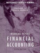 Cover-Bild zu Working Papers to Accompany Financial Accounting [With Annual Report] von Weygandt, Jerry J.