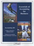 Cover-Bild zu Essentials of Accounting for Business: Accounting 203 College of Business Administration School of Accounting Central Michigan University; Financial A von Kimmel, Paul D.