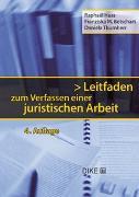 Cover-Bild zu Betschart, Franziska: Leitfaden zum Verfassen einer juristischen Arbeit