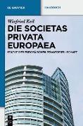 Cover-Bild zu eBook Die Societas Privata Europaea (SPE)