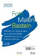 Cover-Bild zu Foto-Malen-Basteln Bastelkalender A4 weiß 2020