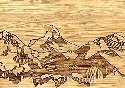 Cover-Bild zu PK Bambus Matterhorn Swiss Icons103