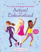 Cover-Bild zu Watt, Fiona: Mein großes Anziehpuppen-Stickerbuch: Action! und Eiskunstlauf