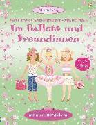Cover-Bild zu Watt, Fiona: Mein großes Anziehpuppen-Stickerbuch: Im Ballett und Freundinnen