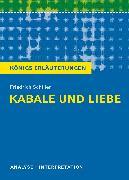 Cover-Bild zu Friedrich Schiller: Kabale und Liebe von Schiller, Friedrich