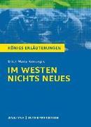 Cover-Bild zu Erich Maria Remarque: Im Westen nichts Neues von Remarque, Erich Maria