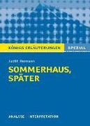 Cover-Bild zu Sommerhaus, später. Königs Erläuterungen (eBook) von Hermann, Judith