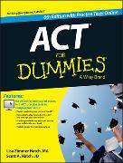 Cover-Bild zu ACT For Dummies, with Online Practice Tests von Hatch, Lisa Zimmer