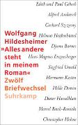 Cover-Bild zu Hildesheimer, Wolfgang: »Alles andere steht in meinem Roman«
