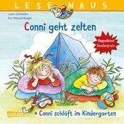 """Cover-Bild zu LESEMAUS 205: """"Conni geht zelten"""" + """"Conni schläft im Kindergarten"""" Conni Doppelband von Schneider, Liane"""