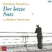 Cover-Bild zu Seethaler, Robert: Der letzte Satz (ungekürzt) (Audio Download)