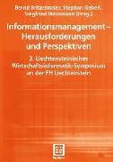 Cover-Bild zu Britzelmaier, Bernd (Hrsg.): Informationsmanagement - Herausforderungen und Perspektiven (eBook)