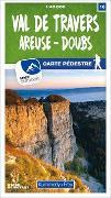 Cover-Bild zu Hallwag Kümmerly+Frey AG (Hrsg.): Val-de-Travers / Areuse - Doubs 16 Wanderkarte 1:40 000 matt laminiert. 1:40'000