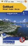 Cover-Bild zu Hallwag Kümmerly+Frey AG (Hrsg.): Gotthard Wanderkarte Nr. 19. 1:60'000