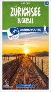 Cover-Bild zu Hallwag Kümmerly+Frey AG (Hrsg.): Zürichsee - Zugersee 13 Wanderkarte 1:40 000 matt laminiert. 1:40'000