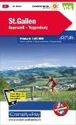 Cover-Bild zu Hallwag Kümmerly+Frey AG (Hrsg.): St. Gallen, Appenzell, Toggenburg Velokarte Nr. 7. 1:60'000