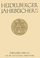 Cover-Bild zu Heidelberger Jahrbücher XVII von Binner, Rolf