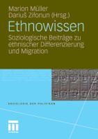 Cover-Bild zu Ethnowissen von Müller, Marion (Hrsg.)