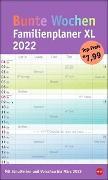 Cover-Bild zu Heye (Hrsg.): Bunte Wochen Familienplaner XL Kalender 2022