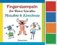 Cover-Bild zu Pautner, Norbert: Fingerstempeln für kleine Künstler-Set - Monster und Abenteuer