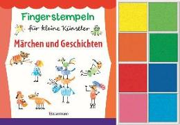 Cover-Bild zu Pautner, Norbert: Fingerstempeln für kleine Künstler-Set. Märchen und Geschichten selber stempeln und erzählen
