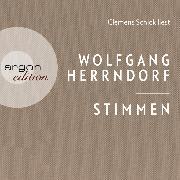 Cover-Bild zu Herrndorf, Wolfgang: Stimmen (Ungekürzte Lesung) (Audio Download)