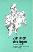 Cover-Bild zu Aeschlimann, Felix: Zur Feier des Tages