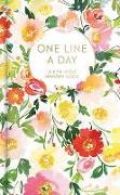 Cover-Bild zu Floral One Line a Day: A Five-Year Memory Book