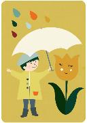 Cover-Bild zu Postkarte Regen (VE8)