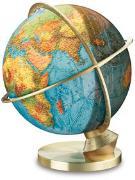 Cover-Bild zu Panorama Leuchtglobus Planet Erde. Ø 34 cm. Fuss Messing