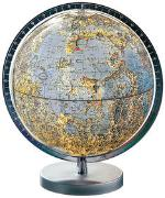 Cover-Bild zu Mond-Leuchtglobus. Ø 26 cm. Fuss silberfarbener Kunststoff