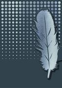 Cover-Bild zu libri_x Magnetlesezeichen Grußkarte Feder VE 6