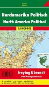 Cover-Bild zu Nordamerika politisch, 1:8 Mill., Poster, metallbestäbt