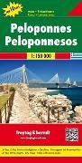 Cover-Bild zu Peloponnes, Autokarte 1:150.000, Top 10 Tips. 1:150'000