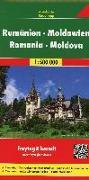 Cover-Bild zu Rumänien - Moldawien, Autokarte 1:500.000. 1:500'000