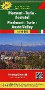 Cover-Bild zu Piemont - Turin - Aostatal, Autokarte 1:150.000, Top 10 Tips. 1:150'000