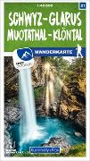 Cover-Bild zu Schwyz - Glarus Muotathal - Klöntal 21 Wanderkarte 1:40 000 matt laminiert. 1:40'000