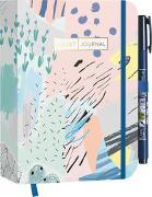 "Cover-Bild zu Pocket Bullet Journal ""Abstract Art"" mit Original Tombow Brush Pen Fudenosuke in schwarz"
