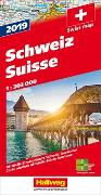 Cover-Bild zu Schweiz 2019 Strassenkarte 1:303 000. 1:303'000