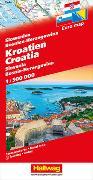 Cover-Bild zu Hallwag Kümmerly+Frey AG (Hrsg.): Kroatien-Slowenien-Bosnien-Herzegowina Strassenkarte 1:500 000. 1:500'000