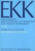 Cover-Bild zu Stuhlmacher, Peter: Der Brief an Philemon