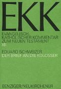 Cover-Bild zu Schweizer, Eduard: Der Brief an die Kolosser