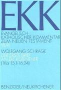 Cover-Bild zu Schrage, Wolfgang: Der erste Brief an die Korinther