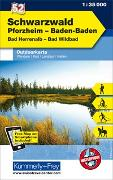 Cover-Bild zu Schwarzwald, Pforzheim, Baden-Baden, Bad Herrenalb, Bad Wildbad. 1:35'000 von Hallwag Kümmerly+Frey AG (Hrsg.)