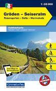 Cover-Bild zu Gröden, Seiseralm, Rosengarten, Catinaccio, Sella, Marmolada. 1:35'000 von Hallwag Kümmerly+Frey AG (Hrsg.)