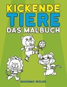 Cover-Bild zu Kickende Tiere - Das Malbuch von Wolke, Massimo