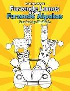 Cover-Bild zu Furzende Lamas gegen Furzende Alpakas - Das lustige Malbuch von Wolke, Massimo