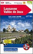 Cover-Bild zu Lausanne-Vallée de Joux Velokarte Nr. 14. 1:60'000 von Hallwag Kümmerly+Frey AG (Hrsg.)