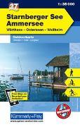 Cover-Bild zu Starnberger See Outdoorkarte Deutschland Nr. 27. 1:35'000 von Hallwag Kümmerly+Frey AG (Hrsg.)
