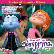 Cover-Bild zu Disney/ Vampirina - Folge 3: Vees Überraschungsparty/ Hier spukt's doch!/ Der Vampingtrip/ Das Schnarchmonster (Audio Download) von Bingenheimer, Gabriele